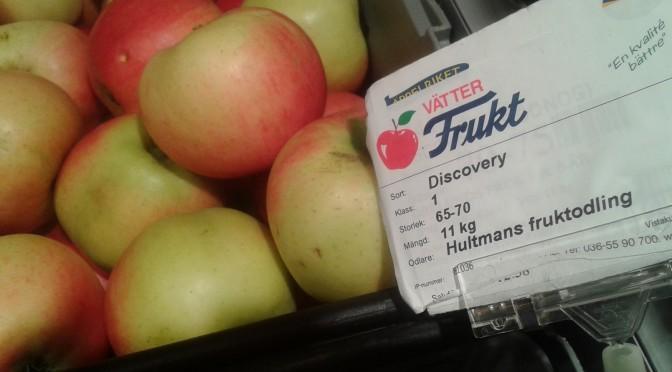 Äpplen från Rudu på ICA Ulricehamn