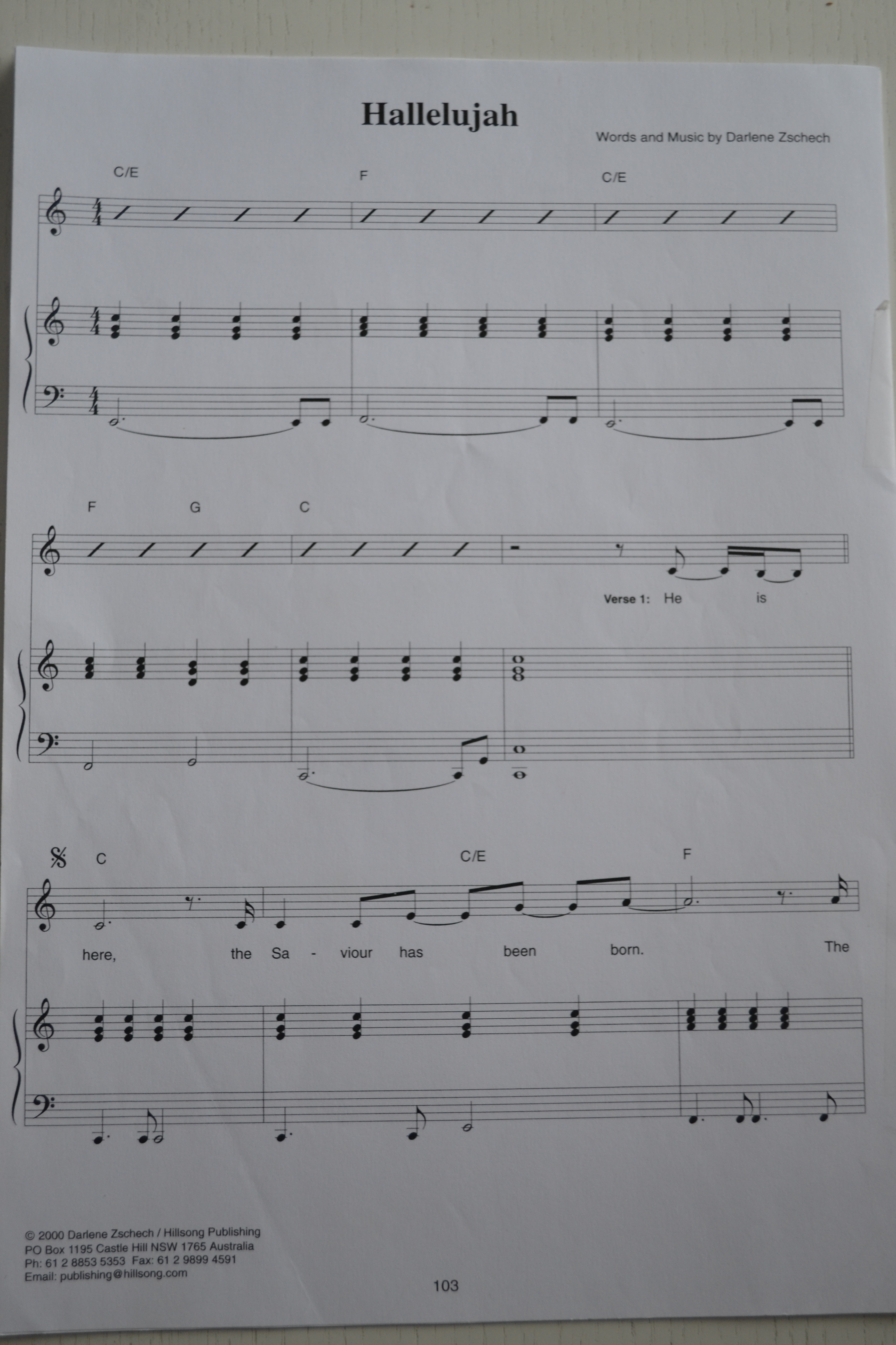 Hallelujah (Zschech) - Han är här, sidan 1